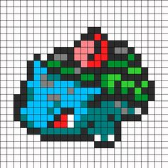 Ivysaur Pokemon Sprite bead pattern