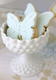 Gorgeous pastel blue #Butterfly #Cookies (Layla Grayce) We love and had to share!