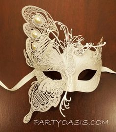 Butterfly Mask for a Masquerade Ball themed wedding....I think yes!