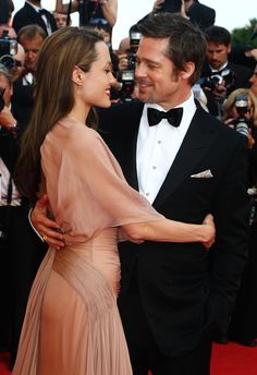 Angelina Jolie and Brad Pitt at the Inglourious Basterds premiere during the 62nd International Cannes Film Festival in Cannes-France, May 2009