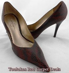 Womens #shoes JESSICA SIMPSON High #Heels #Pumps #Pointy Faux #Snakeskin #LEATHER #JessicaSimpson #Stilettos