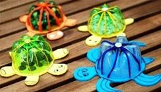 Plastic bottle crafts for kids, preschoolers and adults. Craft project ideas using water and liter bottles. How to make crafts using plastic bottles. Recycle ideas for children. Make flowers, jewelry. New Crafts, Crafts To Do, Creative Crafts, Crafts For Kids, Arts And Crafts, Paper Crafts, Easy Crafts, Easy Diy, Water Bottle Crafts