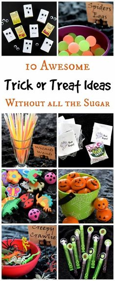 10 Alternative Trick or Treat Ideas for kids - fun and healthy ideas for Halloween without all the sugar from Eats Amazing UK