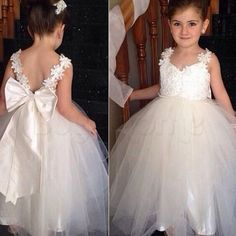 Awesome Awesome Flower Girl Princess Dress Wedding Birthday Party Pageant Dance Formal Dresses  2018