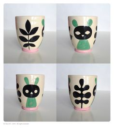 glazed earthenware cup by cléo d'O
