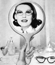 Mary Jane Russell wearing Mayfair eyewear 1956