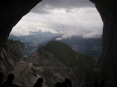The view from the cave entrance Eisriesenwelt, the biggest ice cave. Cave Entrance, Half Dome, Doorway, Austria, Places Ive Been, Mountains, Nature, Travel, Places