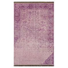 Showcasing a gently distressed Persian-inspired motif, this hand-knotted wool rug infuses your decor with distinctive style.    Pr...
