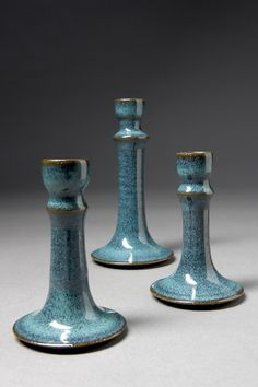 candlesticks by Willow creek pottery