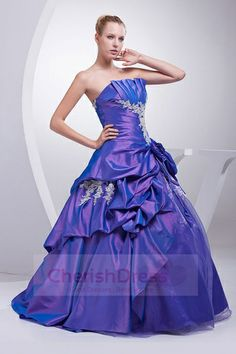 #Cherishdress# Color Wedding Dresses Taffeta purple Bridal Gowns