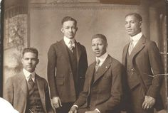 Yale Law School, class of 1921 (left to right): J. Alston Atkins, Charles A. Chandler, Mifflin Gibbs, and Leroy Pierce. Class of 1921 Black History Facts, Black History Month, Afro, Yale Law School, African Diaspora, Black Pride, African American History, Look At You, Black Is Beautiful