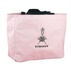 Hortense B. Hewitt Wedding Accessories Pink Bridal Party Tote Bag, Bridesmaid, 12 by 14-Inch >>> You will love this! More info here : Wrapping Ideas