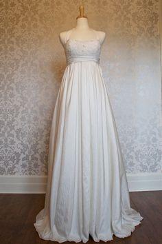 Halter neck Empire Waist Maternity Wedding Dress