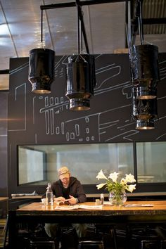 There are probably more expectations placed on Axil than any other café in Melbourne. Whispers of its opening circulated for so long – Axil Coffee Roasters Cafe Bar, Cafe Bistro, Cafe Shop, Design Café, Cafe Design, Store Design, Design Homes, Architecture Restaurant, Restaurant Design