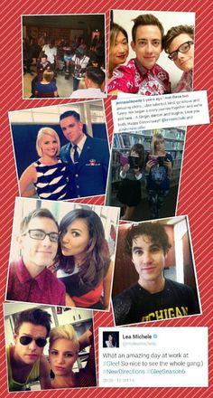 Glee Cast Season 6 Darin Criss is wearing a Michigan shirt!!!
