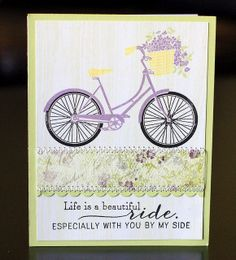 Just popping in to share the card that I made for the latest 10 Minute Craft Dash , where the challenge is to create a card in less than. Quick Cards, Cool Cards, Card Making Inspiration, Making Ideas, Bicycle Cards, Birthday Cards For Women, Cricut Cards, Flower Cards, Greeting Cards Handmade