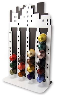 Need this Nespresso capsule holder Best Coffee, My Coffee, Coffee Shop, Coffee Art, Coffee Pod Holder, Coffee Pods, Coin Café, Gifts Australia, Coffee Accessories