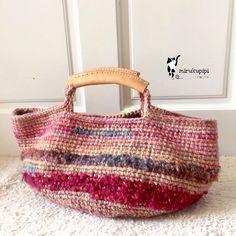 Crochet Tote, Crochet Handbags, Crochet Purses, Knit Crochet, Purse Patterns Free, Art Bag, Fabric Bags, Cotton Bag, Knitted Bags