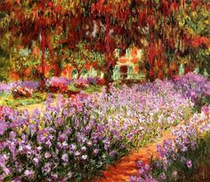 The Garden - Claude Monet