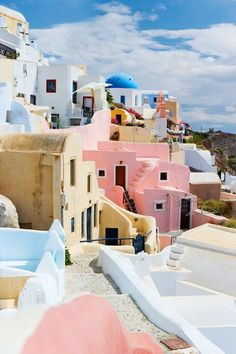 Travel Inspiration for Greece - The great views of Santorini. Only a few weeks more until we visit. Santorini is the most beautiful Greek island filled with whitewashed walls, pink sunsets and crystal waters. Here's 7 reasons you need to visit Santorini. Places Around The World, Oh The Places You'll Go, Places To Travel, Travel Destinations, Places To Visit, Around The Worlds, Winter Destinations, Destination Voyage, Photos Voyages