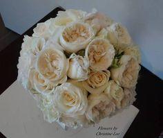 Cream bouquet - David Austin and roses #sunpetalsflorist