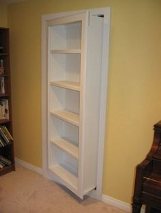 The Hidden Door Company offers custom build hidden doors for our customers. What - Shelf Bookcase - Ideas of Shelf Bookcase - The Hidden Door Company offers custom build hidden doors for our customers. What do you have to hide? Stair Storage, Hidden Storage, Wall Storage, Bedroom Storage, Book Storage, Storage Ideas, Diy Storage, Bookcase Storage, Hallway Storage