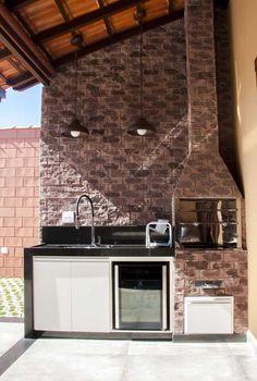 Home Design Decor, House Design, Home Decor, Barbecue Area, Bbq Grill, Outdoor Oven, Barbacoa, My Dream Home, Home Kitchens