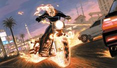 Ghost Rider by Paolo Rivera Ghost Rider 2007, Ghost Rider Marvel, Comic Book Artists, Comic Books Art, Comic Art, Marvel Comics, Marvel Art, Absorbing Man, Ghost Rider Pictures