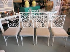 FAUX BAMBOO Metal Chairs for the Patio :)