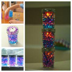 Mason Jar Nightlights with Water Beads