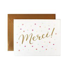 Items Similar To Merci Card Thank You French Wedding Cards Birthday
