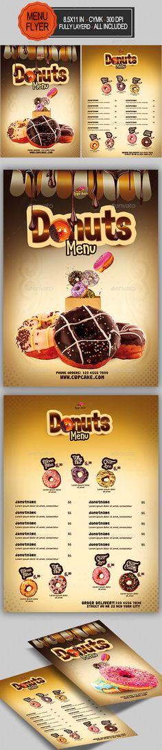 Donuts #Menu - #Food Menus Print Templates