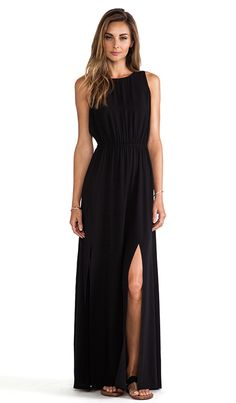 AG Adriano Goldschmied Sway Maxi Dress in True Black #fashion2014 #maxi