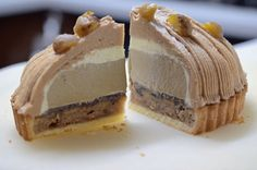 Chestnut and Japanese hoji tea tart