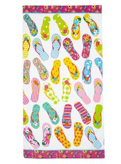 Flip flop beach towel