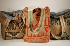 Custom burlap bag order for Jacqueline