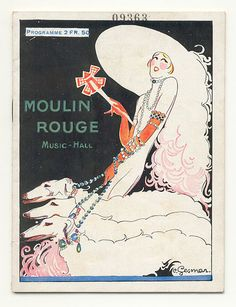 Moulin Rouge Music-Hall programme circa 1925 by Charles Gesmar (1900-1928). Wikimedia.