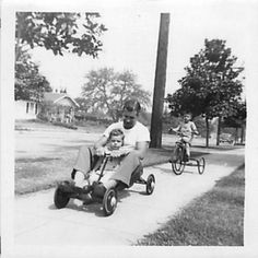 fun in the Oil Service, Pedal Cars, Happy Things, Go Kart, Tricycle, Back In The Day, Vintage Toys, Memories, Play