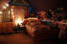The cozy bedroom, hipster teenage girl room ideas double beds Teen Room Decor, Room Ideas Bedroom, Bedroom Decor, Teen Rooms, Bedroom Night, Dream Rooms, Dream Bedroom, White Bedroom, Teen Bedroom