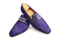 #Aubercy - Lupin - Mocassin - Ligne Passion - Prêt à chausser - Ready to wear - Sur commande - Made to order - Veau velours - Velvet calfskin - #Dapper - #Men - #Shoes ---