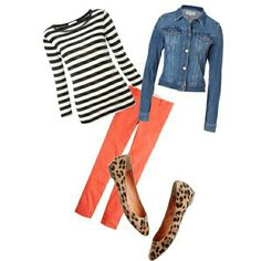 Cute. I would wear this outfit.