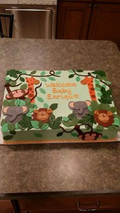 jungle theme baby shower cake it s a time with a boys safari baby shower jungle 5283