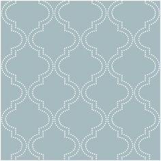 NuWallpaper Slate Blue Quatrefoil Peel and Stick Wallpaper ($90) ❤ liked on Polyvore featuring home, home decor, wallpaper, vinyl wallpaper, removing vinyl wallpaper, quatrefoil wallpaper, quatrefoil home decor and brewster home fashions wallpaper