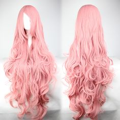 Super Long Pink Waves Wig from HarajukuBaby