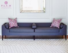 Put it in a front hall or use it as a room divider for an elegant touch. Funky Furniture, Sofa Furniture, Furniture Design, Upholstered Ottoman, Sofa Upholstery, Living Room Sofa, Living Spaces, Love Seat, Interior Design