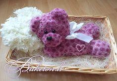 Мишка с сердцем из цветов от Buketon.lv Больше чем просто цветы... Для заказа…