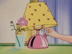 lamp, maison ikkoku, and old school anime image