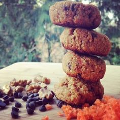 Ripped Recipes - Chocolate Chip Carrot Cake Cookies - Pretty much everything I love rolled into a gluten-free cookie