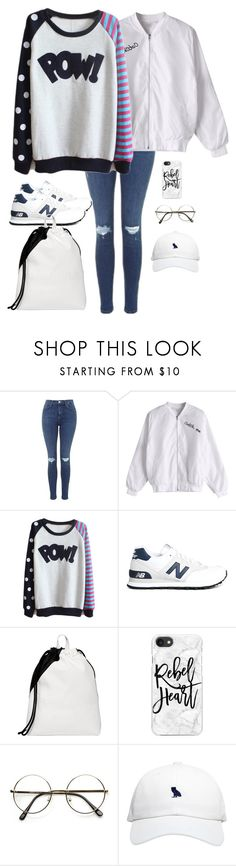 """""""Never Ever"""" by wang852g7 ❤ liked on Polyvore featuring beauty, Topshop, New Balance, Fiorelli, Casetify and October's Very Own"""