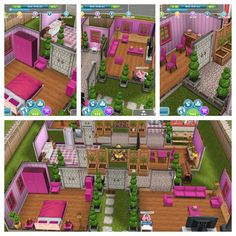 My Pink sim house #sims #simsfreeplay #house